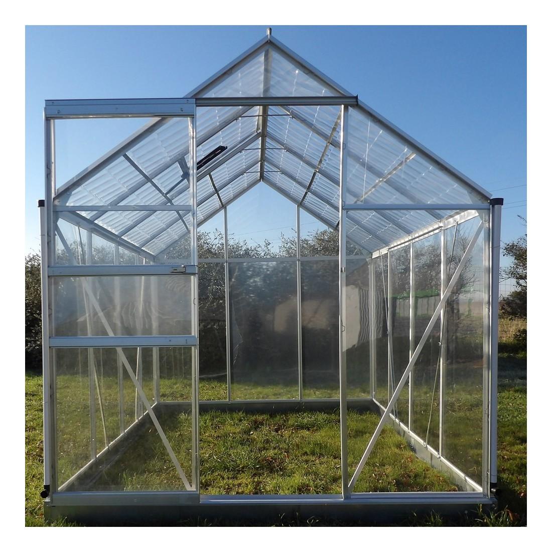 Serre cristal 4 75m - Plaque polycarbonate pour serre jardin ...