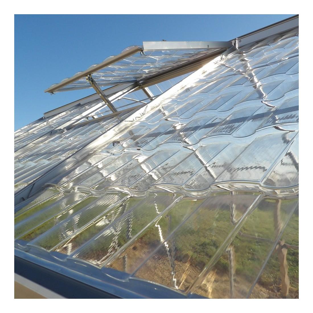 Serre cristal 4 75m lucarne - Plaque polycarbonate pour serre jardin ...