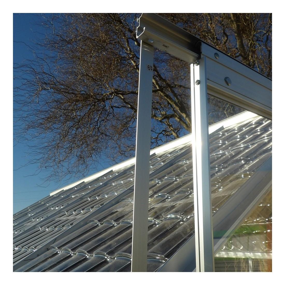 Serre cristal 4 75m porte coulissante - Plaque polycarbonate pour serre jardin ...