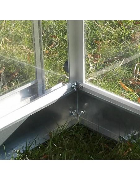 Embase - Serre de jardin en polycarbonate transparent