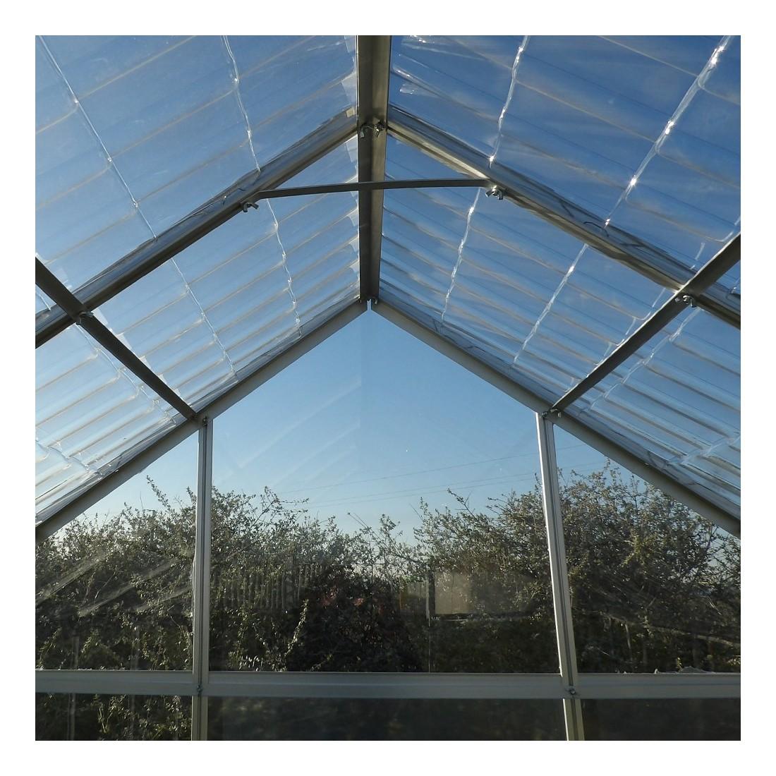 Toit en tuiles transparentes serre de jardin en aluminium et polycarbonate - Serre polycarbonate transparent ...