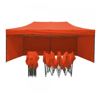 Tonnelle pliante - Pergola pliable de 3x6m en Acier + Pack Côtés