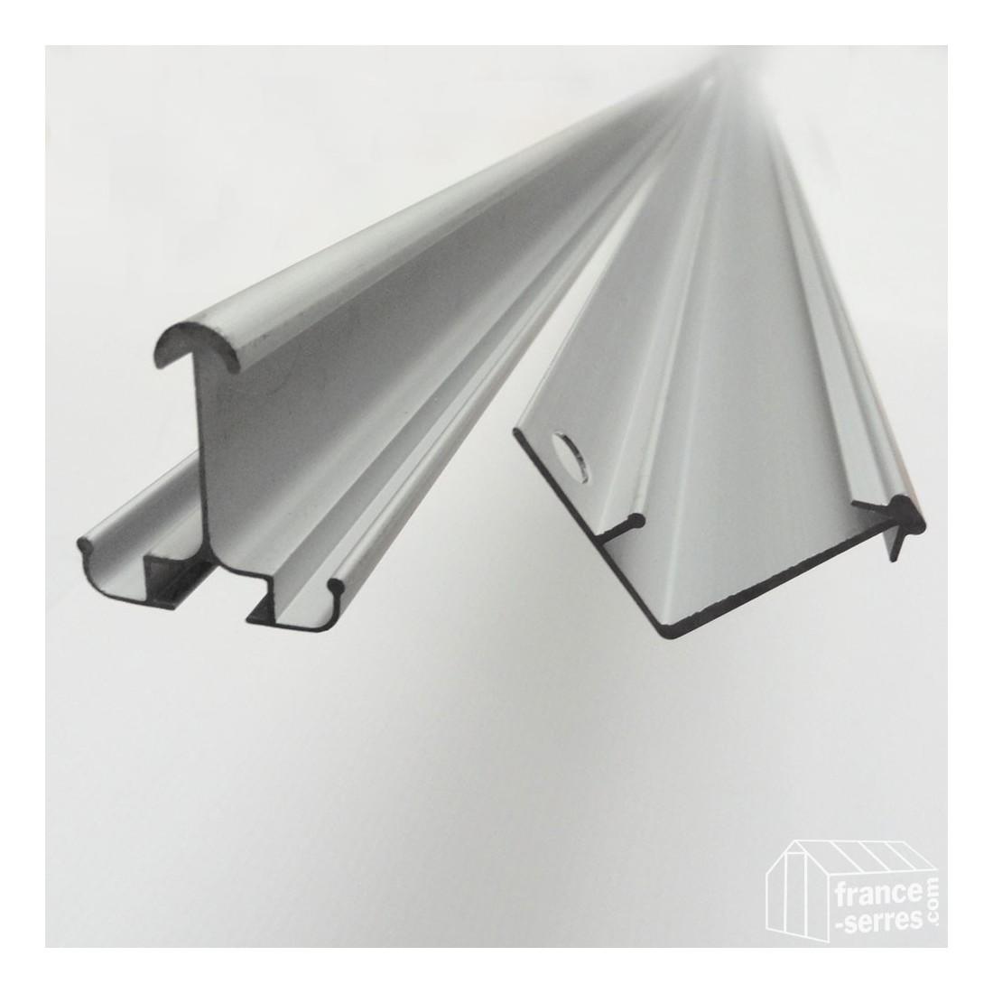 Profiles de la structure en aluminium de la serre de for Serre de jardin richel