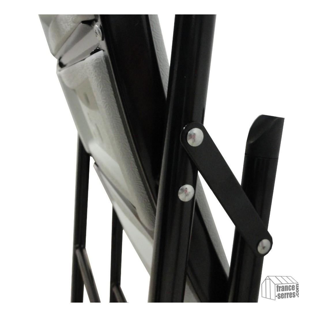lot de 2 chaises tabourets pliants pour mange debout poly thyl ne. Black Bedroom Furniture Sets. Home Design Ideas