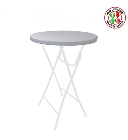 Housse de plateau ou top en Lycra blanc pour table mange-debout