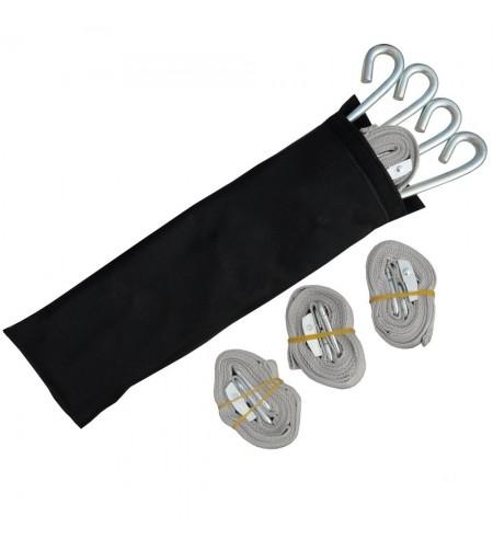 Kit de haubanage sardines et sangles pour sécuriser l'installation de votre tonnelle pliante