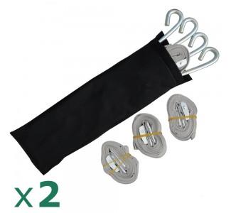 Lot de 2 kits de haubanage sardines et sangles pour sécuriser l'installation de votre tonnelle pliante