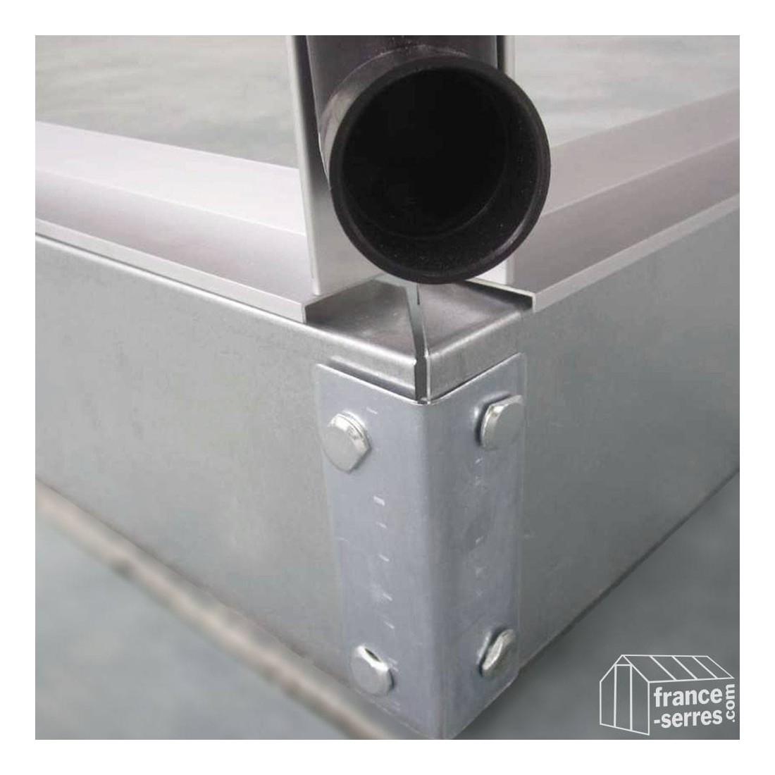 Gouttiere pour serre de jardin en aluminium et - Plaque polycarbonate pour serre jardin ...