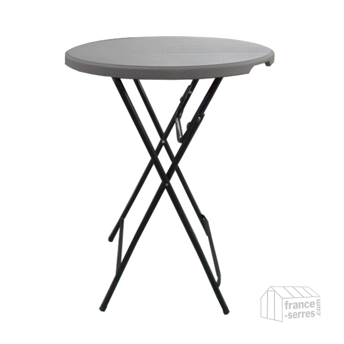 table haute mange debout pliante en poly thyl ne 80cm. Black Bedroom Furniture Sets. Home Design Ideas