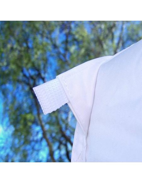 accroche de haubanage pour sécuriser votre tente octogonale