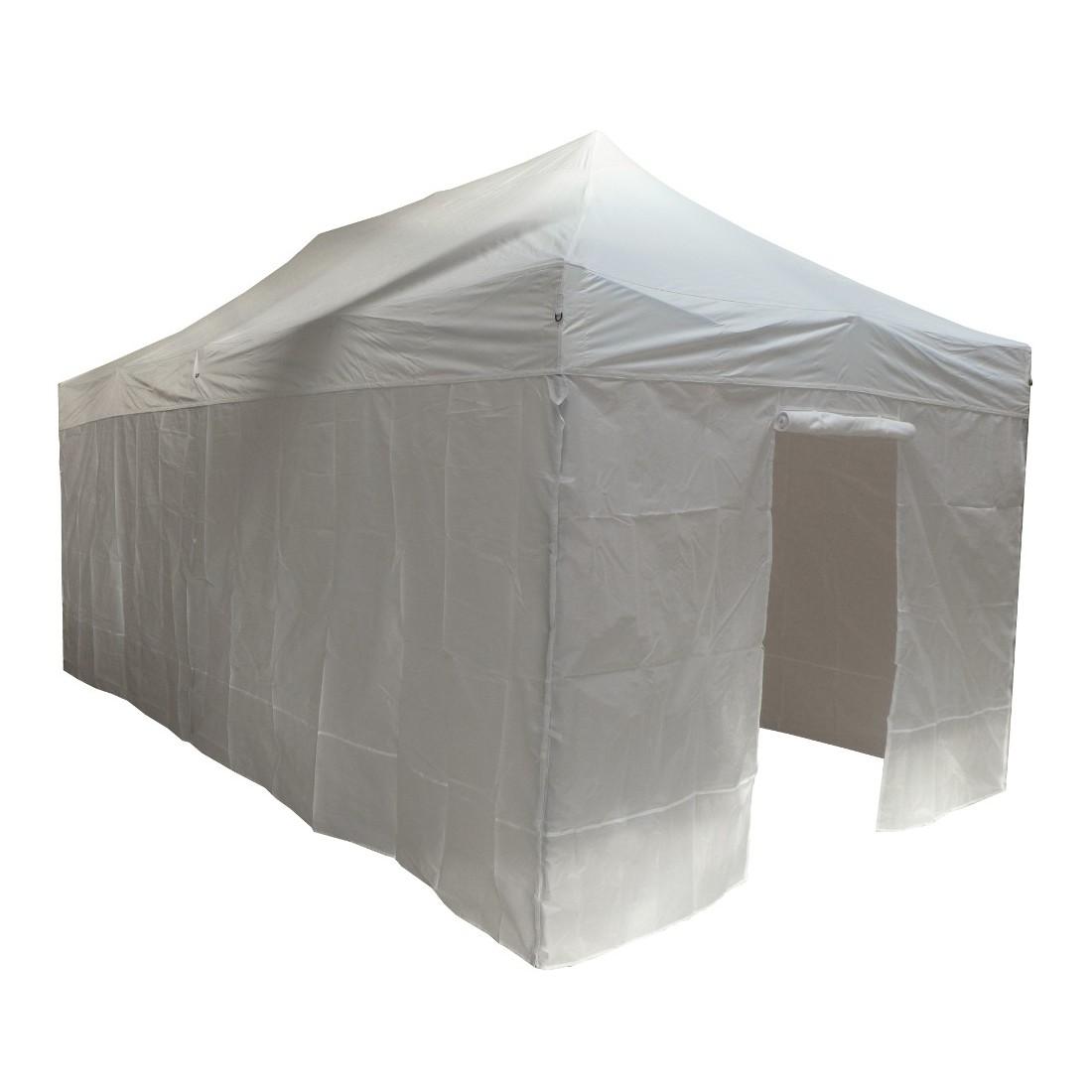 Tonnelle pliante 4x8m blanche acier semi pro avec ses 6 parois - Tonnelle de jardin pliante ...