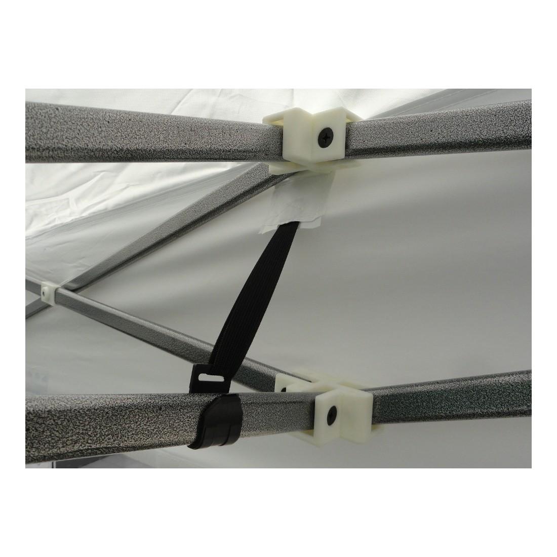 Elastiques de tension sur chaque c t de la tonnelle pliante pour bien tendre la b che de toit - Tonnelle de jardin pliante ...