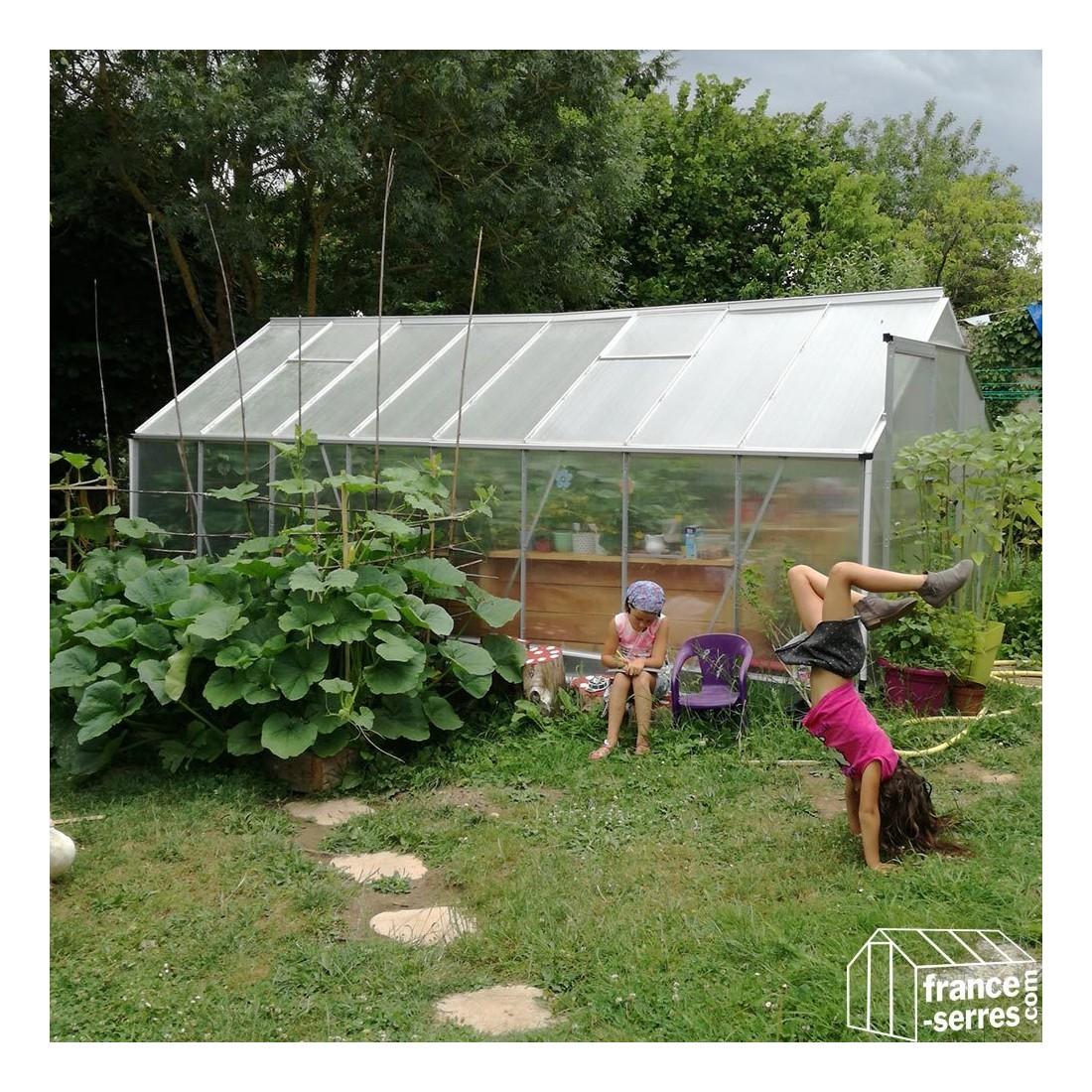 Serre de jardin en polycarbonate alv olaire grande largeur - Plaque polycarbonate pour serre jardin ...