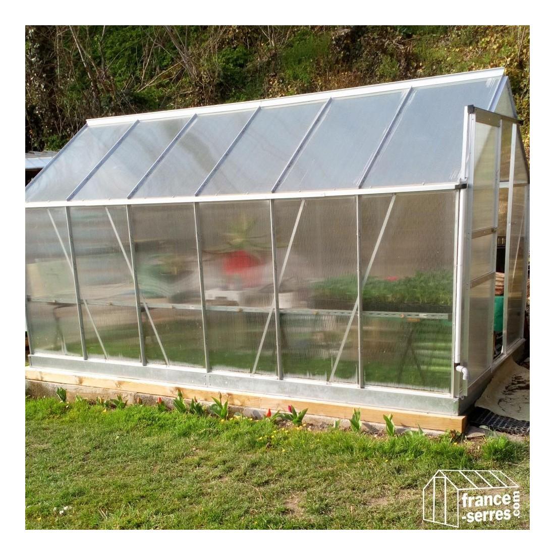 Serre de jardin en aluminium et en polycarbonate - Plaque polycarbonate pour serre jardin ...