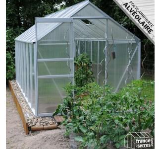 Serre de jardin Classique avec Polycarbonate ALVÉOLAIRE 9,50m²