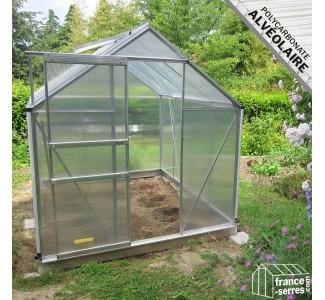 Serres de jardin en alu et polycarbonate avec embase incluse - Serre ...