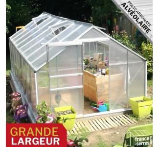 Serre de jardin Premium XL Polycarbonate ALVÉOLAIRE 12,2m²