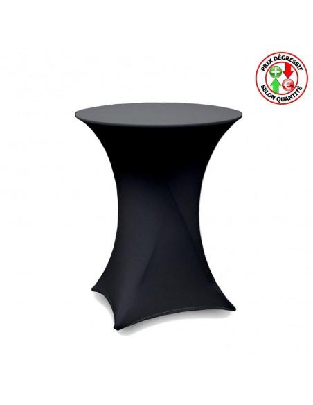 housse pour table haute en lycra noir