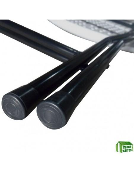 Table haute mange-debout pliante en Polyéthylène - Patin de protection