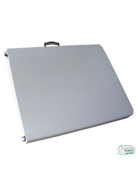 Table pliante rectangulaire 183cm BLANCHE pliante en valise en Polyéthylène