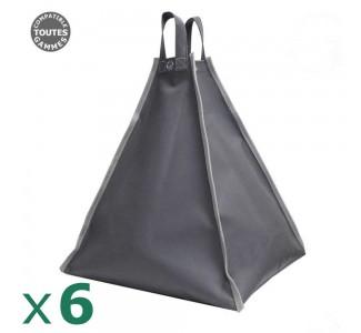 Pack de 6 sacs à remplir de 60kg pour tonnelle pliante ou tente de réception