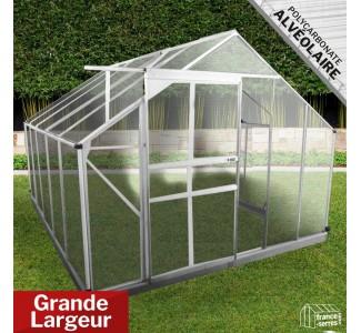 Serre de jardin Premium XL Polycarbonate ALVÉOLAIRE 7,50m²