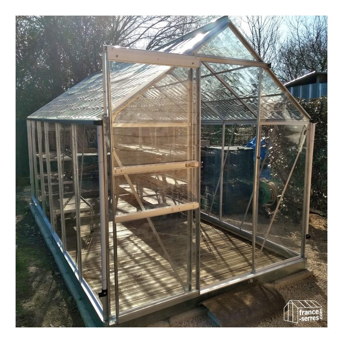 Serre de jardin cristal 7 10m avec polycabonate - Serre jardin polycarbonate caen ...
