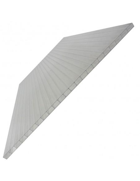 Plaque en polycarbonate alvéolaire pour serre en aluminium