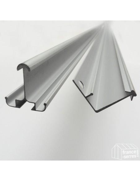 Profilés en aluminium de la structure des serres de jardin en aluminium et polycarbonate alvéolaire pas chères