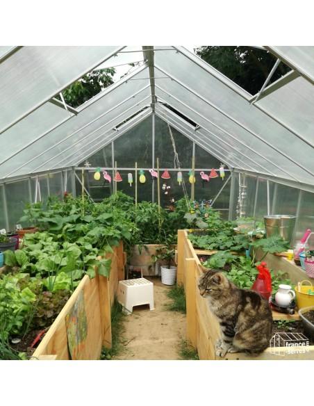 Serre de jardin Premium XL Polycarbonate Alvéolaire 12,4m²