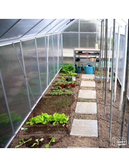 Serre de jardin Premium avec Polycarbonate ALVÉOLAIRE 9,30m²