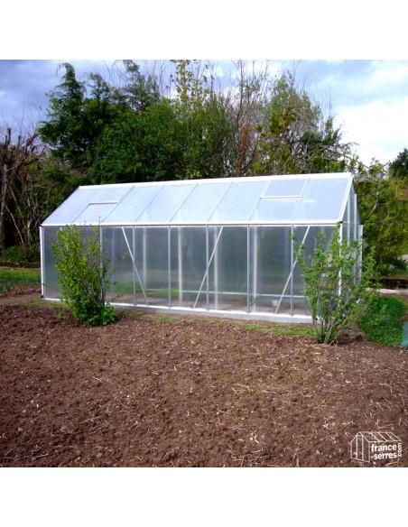 Serre de jardin Premium en aluminium et Polycarbonate ALVÉOLAIRE 9,30m²