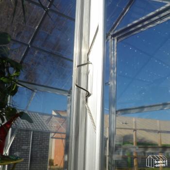Clip en métal pour accrocher les panneaux en polycarbonate sur votre serre de jardin