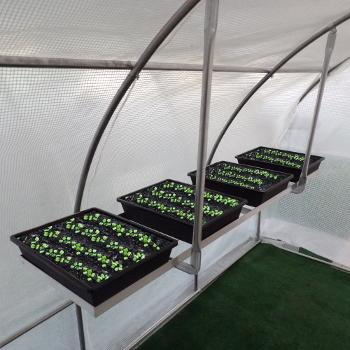 Etagère suspendue est idéale pour préparer vos semis ou boutures à l'abri sous votre serre de jardin