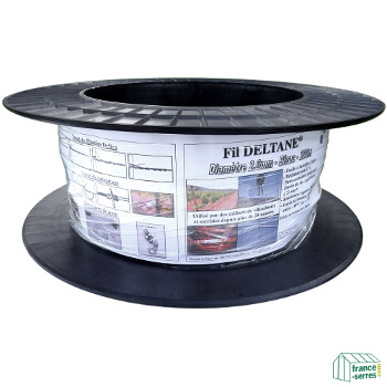 Bobine de 200m de fil Deltane, idéal pour renforcer la structure de votre serre tunnel