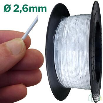 Fil Deltane de 2,6mm de diamètre, solide et résistant aux UV