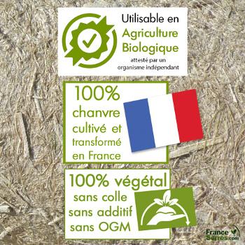 paillage 100% chanvre naturel