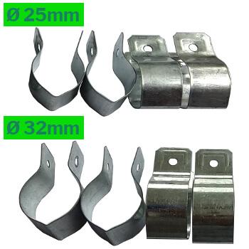 Colliers en diamètre 25mm et 32mm