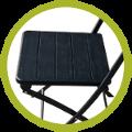 Assise de chaise pliante noire imitation bois de haute qualité et grande résistance