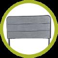 Dossier de chaise pliante noire imitation bois de haute qualité et grande résistance
