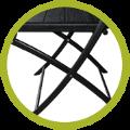 Montage simple et rapide de notre chaise pliante noire, sans outil