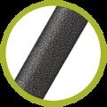 EPiètement ovale de haute qualité 28mmx14mm en acier avec peinture époxy