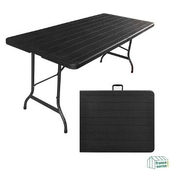 Notre table pliante de 180cm idéale pour vos repas familiaux, réunions, manifestations en intérieur ou en extérieur