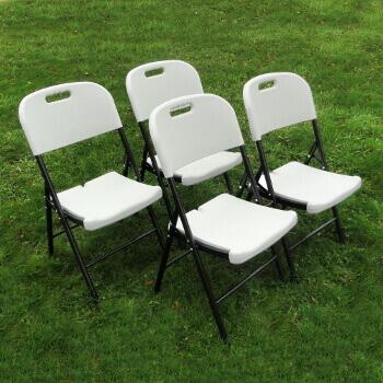 Chaises pliantes haute résistance vendues en lot de 4 pièces
