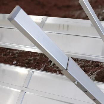 Pieds de la table de rempotage équipés de patin