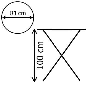 Dimensions d'une de nos tables pliantes mang-debout