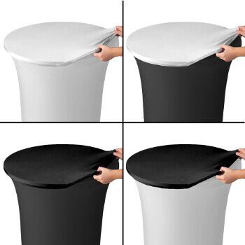 La housse de plateau ou top en lycra permet de protéger votre housse tubulaire ou simplement de varier la présentation de vos tables mange-debout