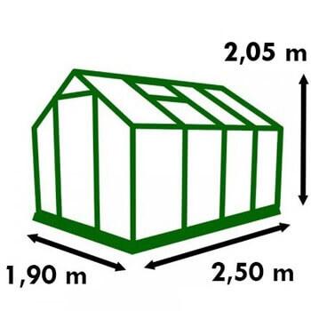 Dimensions de la serre de jardin Polycarbonate