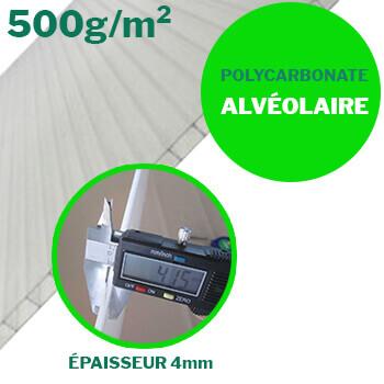 serre avec panneaux alvéolaires en polycarbonate