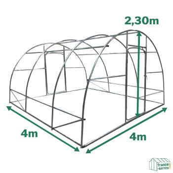 Serre potagère SEMI-PRO d'une surface cultivable de 16m²